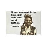 Brotherhood Quote Rectangle Magnet (10 pack)