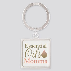 EO Momma gold Square Keychain