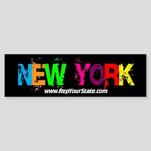 Colorful New York Bumper Sticker
