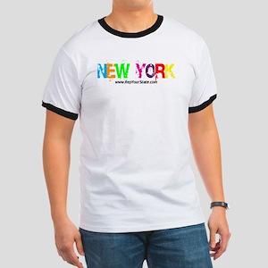 Colorful New York Ringer T