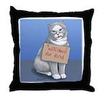 Will Sleep for Food Throw Pillow