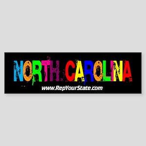 Colorful North Carolina Bumper Sticker