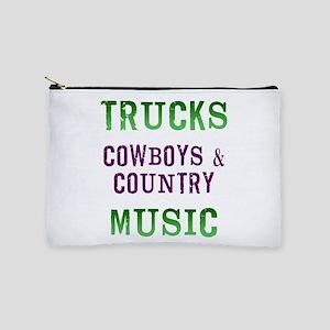 Trucks Cowboys Country Music Makeup Bag