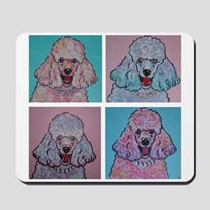 4 Crazy Poodles Mousepad