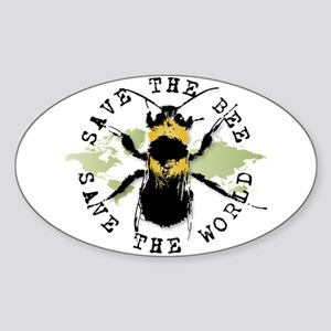 Save The Bee... Oval Sticker