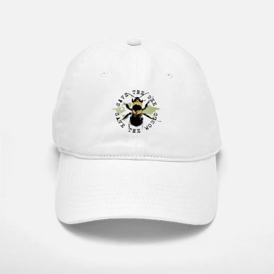 Save The Bee... Baseball Baseball Cap