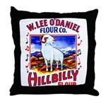 Hillbilly Flour Throw Pillow