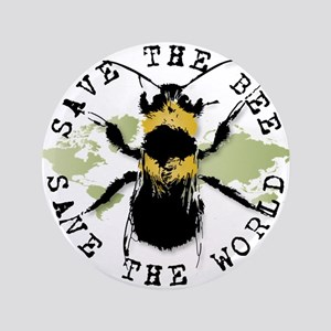"Save The Bee... 3.5"" Button"