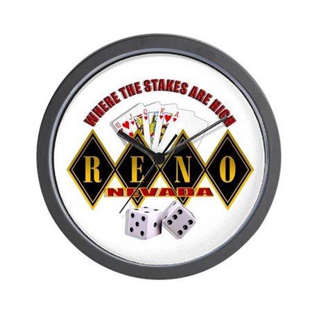 RENO - Where The Stakes Are H Wall Clock