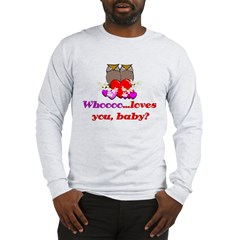 Valentine's Day Owls Long Sleeve T-Shirt