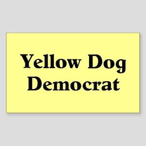 Yellow Dog Democrat Rectangle Sticker