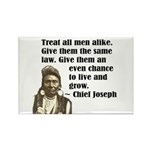 Treat all men alike Rectangle Magnet (100 pack)