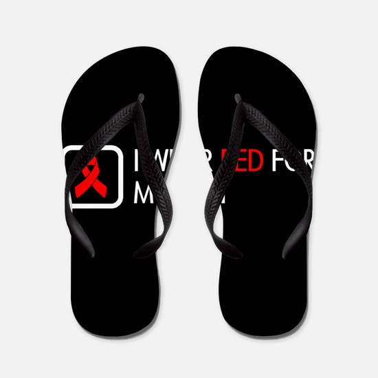 Red Ribbon: Red for my Son Flip Flops