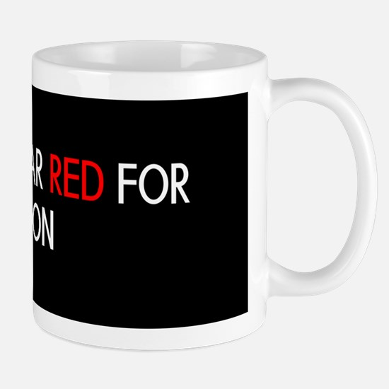 Red Ribbon: Red for my Son Mug