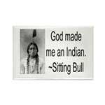 God made me an Indian Rectangle Magnet (10 pack)