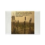 Chief Joseph Earth Quote Rectangle Magnet (100 pac