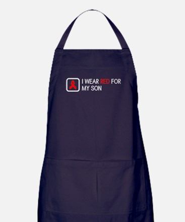 Red Ribbon: Red for my Son Apron (dark)
