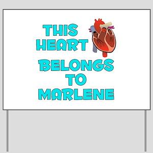 This Heart: Marlene (B) Yard Sign