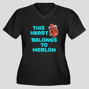 This Heart: Marlon (B) Women's Plus Size V-Neck Da