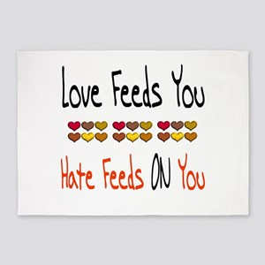 Love Feeds You 5'x7'Area Rug