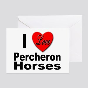 I Love Percheron Horses Greeting Cards (Package of