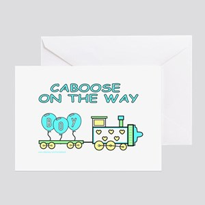 CABOOSE ON THE WAY Greeting Card