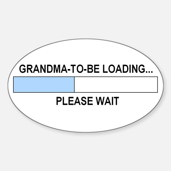 GRANDMA-TO-BE Oval Decal