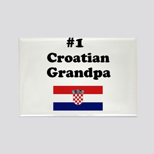 #1 Croatian Grandpa Rectangle Magnet