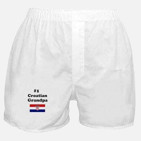 #1 Croatian Grandpa Boxer Shorts