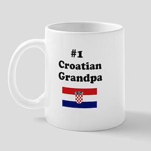 #1 Croatian Grandpa Mug
