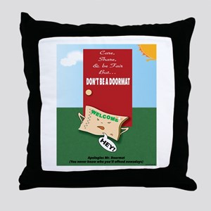 Offended DoorMat Throw Pillow