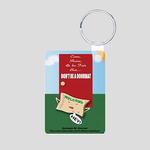Offended DoorMat Aluminum Photo Keychain