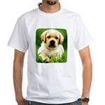 Yellow Labrador Puppy White T-Shirt
