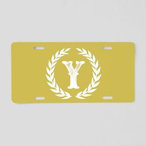 Mustard Yellow Monogram: Le Aluminum License Plate