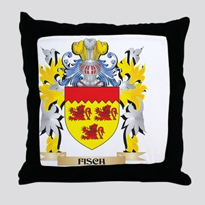 Fisch Coat of Arms - Family Crest Throw Pillow