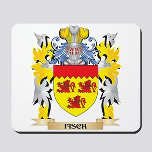 Fisch Coat of Arms - Family Crest Mousepad