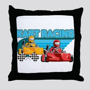 Kart Racing Throw Pillow