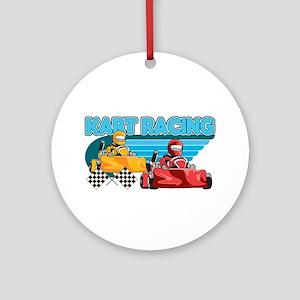 Kart Racing Ornament (Round)