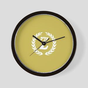 Mustard Yellow Monogram: Letter Z Wall Clock