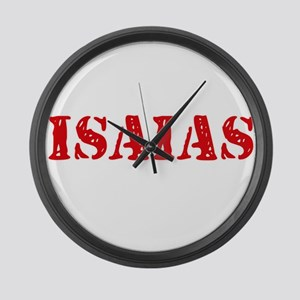 Isaias Rustic Stencil Design Large Wall Clock