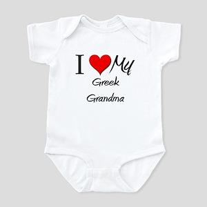 I Heart My Greek Grandma Infant Bodysuit