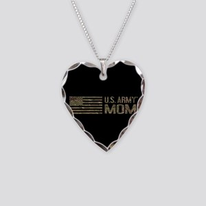 U.S. Army Mom: Camouflage Necklace Heart Charm