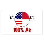 100% Me Rectangle Sticker