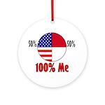 100% Me Ornament (Round)