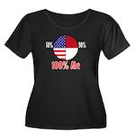 100% Me Women's Plus Size Scoop Neck Dark T-Shirt