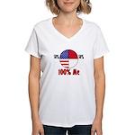 100% Me Women's V-Neck T-Shirt