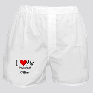 I Heart My Personnel Officer Boxer Shorts