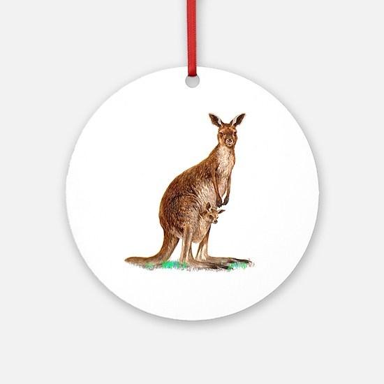 Western Gray Kangaroo Ornament (Round)