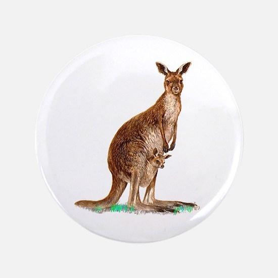 "Western Gray Kangaroo 3.5"" Button"