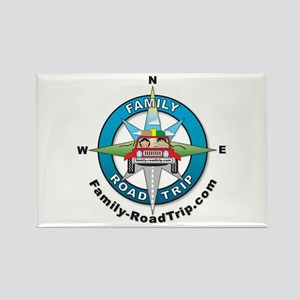 Family Road Trip Compass Rose Rectangle Magnet